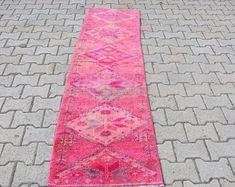 Turkish rug Oushak rug Vintage rug Turkey rug by turkishrugstar Rustic Rugs, Rustic Decor, Natural Rug, Bath Rugs, Pink Rug, Bohemian Decor, Tribal Rug, Rugs In Living Room, Handmade Rugs