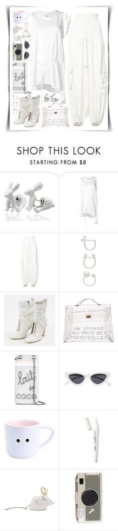 """getting the paper"" by hairycarrot ❤ liked on Polyvore featuring Q&Q, Lost & Found, Puma, Wanderlust + Co, Fendi, Hermès, Chanel, L.A. Girl, Loewe and Paul & Joe"