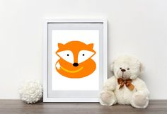 Your place to buy and sell all things handmade Fox Nursery, Nursery Wall Art, Baby Prints, Tribal Art, Teddy Bear, Contemporary, Awesome, Handmade Gifts, Etsy