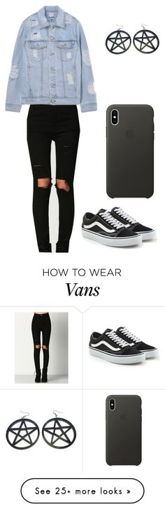 """Outfit"" by andreeadeeix12 on Polyvore featuring Vans and Apple"