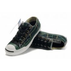Converse Jack Purcell Plaid Black-Green