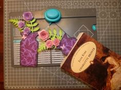 scrapbooking tutorial for decoration with envelope punch board ♥