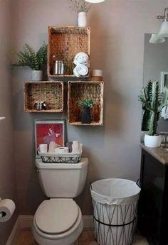 22+ Bathroom Floating Shelves Design to Save Room #bathroomstorage #bathroomdecor #bathroomideas #bathroomremodel ~ Beautiful House