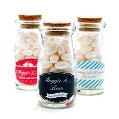 Exclusive Personalized Vintage Milk Favor Jars
