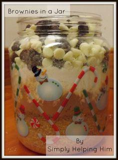 Brownies in a Jar.  Must try this soon!!!