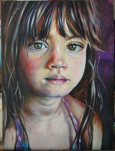 Retrato en oleo de  Judith Grettell Figueroa