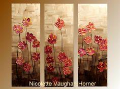 3 original lienzo de Galería del Panel abstracto moderno