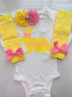 Baby Girl Easter Outfit personalized Easter clothes  baby