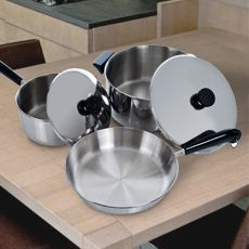 5 piece REVERE® Stainless Steel Aluminum Disc Cookware Set #BargainRoom #HostessWithTheMostest #ShopSmart #Home of the $1 Bargain