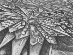 Pencil Techno Garden up close at an angle