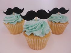 Best Baby Shower Themes For Boys Little Man Mustache Cupcakes 48 Ideas Mustache Cupcakes, Mustache Party, Cute Cupcakes, Boy Baby Shower Themes, Baby Shower Fun, Baby Shower Parties, Baby Showers, Shower Party, Cake Toppers