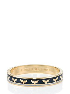 whale of a time hinged idiom bangle - kate spade new york