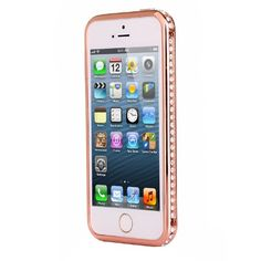 Diamond Crystal Bling Aluminum Metal Bumper Hard Gold Case Cover for Iphone 5 5s Generic http://www.amazon.com/dp/B00K6B1EK8/ref=cm_sw_r_pi_dp_903.tb0RWE58T