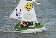 """Disabled person sailing dinghy / single-handed / instructional / recreational Hansa 2.3 Access Dinghies    7'6"""" Class racing for the physically disabled, Australia."""