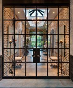 windows in extension - Google Search Architecture Windows, Interior Architecture, Classic Architecture, Interior Modern, Architecture People, Interior Paint, Bathroom Interior, Double Front Doors, Glass Front Door