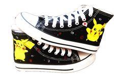4d7882f8d3c8 Pikachu shoes  Cartoon Converse  converse shoes   by Kingmaxpaints