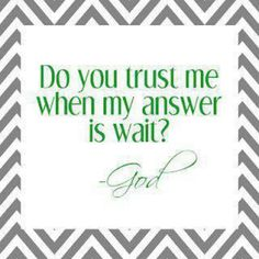 I trust yoy lord ... Your timming is perfection