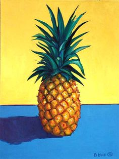 Cedar Street Galleries - Artwork Listing for Ed Lane Pinapple Painting, Fruit Painting, Pineapple Art, Watermelon Fruit, Street Gallery, Vintage Artwork, Fruit Art, Paint Party, Kitchen Art