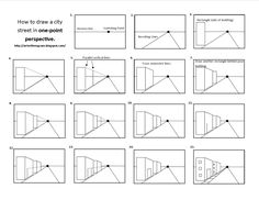 one=point+perspective+worksheets | One-Point Perspective City Streets (5th)