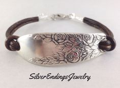 Your place to buy and sell all things handmade Leather Jewelry, Metal Jewelry, Beaded Jewelry, Handmade Jewelry, Silver Spoon Jewelry, Silverware Jewelry, Cutlery, Jewelry Crafts, Jewelry Art