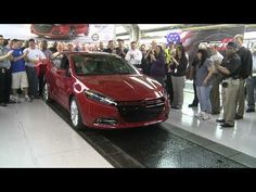 The first Dodge Dart rolls off the assembly line at the Belvidere Assembly plant in Belvidere, IL.