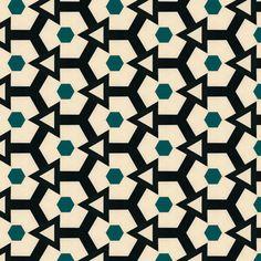 Retro Hexagons & Triangles fabric by stoflab on Spoonflower - custom fabric