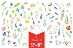 Check out Big Vintage Floral Pack 50% off by Lera Efremova on Creative Market