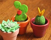 Polymer Clay Mini Succulents and Cacti (FREE U.S. Shipping)