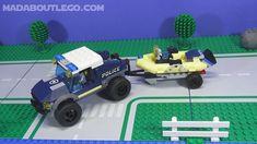 LEGO City Elite Police Boat Transport 60272 AFOL Build Boat Transport, Lego Police, Brand Stickers, Lego Ideas, Lego City, Transportation, Cars, Building, Autos