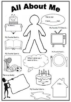 About Me Worksheet (First Day of School Activity) This is an awesome FREE worksheet as a 'getting to know you' activity on the first day of school.This is an awesome FREE worksheet as a 'getting to know you' activity on the first day of school. Get To Know You Activities, First Day Activities, Classroom Activities, Learning Activities, Icebreaker Activities, Art Therapy Activities, Back To School Activities Ks2, All About Me Activities For Preschoolers, Feelings Preschool