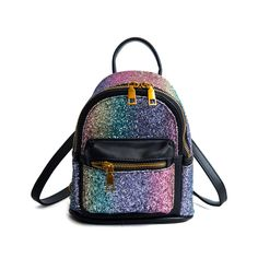 b8193ba6a SEALINF Women Girl Bling Mini Backpack Convertible Shoulder Cross Bags  Purse black2 >>> Look