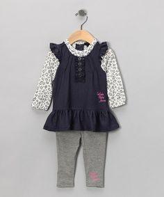 8d43833f7ef0 Calvin Klein Jeans Denim Layered Tunic   Gray Leggings - Infant