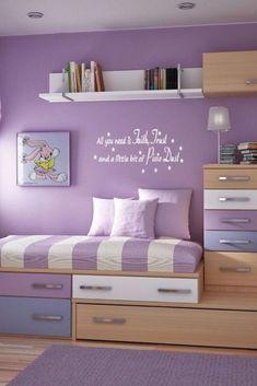 See more ideas about the Girl room, Girls bedroom. Purple bedroom ideas for teenage girl bedr Purple Kids Bedrooms, Boys Bedroom Colors, Cool Kids Bedrooms, Bedroom Color Schemes, Girls Bedroom, Kids Rooms, Fairy Bedroom, Childrens Bedroom, Colour Schemes