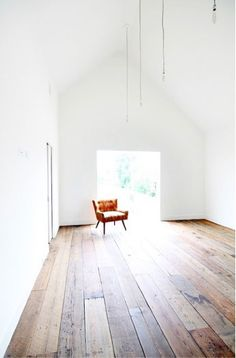 A selection of Row House are designed with reclaimed longleaf pine salvaged from demolished homes. Row on in Houston, Texas by Shade House, Remodelista Reclaimed Wood Floors, Diy Wood Floors, Pine Floors, Hardwood Floors, Rustic Floors, Plywood Flooring Diy, Parquet Flooring, Flooring Ideas, Staining Plywood