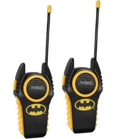 Batman Moulded Walkie Talkies.
