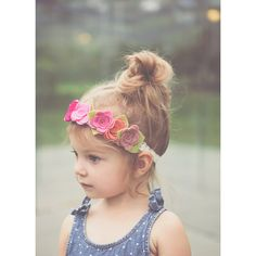 Pink Felt Flower Crown ($20) ❤ liked on Polyvore featuring accessories, hair accessories, black, headbands & turbans, black headband, floral crown, turban headband, pink flower crown and flower garland