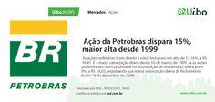 Ação da Petrobras dispara 15%, maior alta desde 1999.
