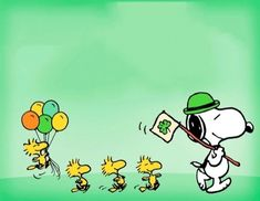 Patrick's Day! Thanksgiving Cartoon, St Patricks Day Wallpaper, Snoopy Images, Snoopy Wallpaper, Favorite Cartoon Character, Charlie Brown And Snoopy, Snoopy And Woodstock, Peanuts Snoopy, Comic Strips