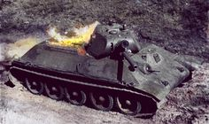 Soviet T34/76 tank, color photo, pin by Paolo Marzioli