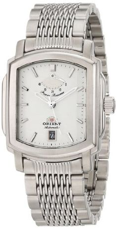 Men's Wrist Watches - Orient Mens Prince Stainless Steel Automatic Watch ** You can find out more details at the link of the image. Rolex Watches, Wrist Watches, Automatic Watch, Link Bracelets, Michael Kors Watch, Prince, Stainless Steel, Crystals, Stuff To Buy