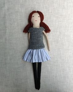 Fabric doll 17 Dress up doll Handmade cloth doll doll by Dollisimo