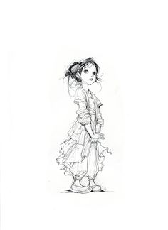 Little Comb Girl by daxiong.deviantart.com on @deviantART