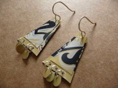 Recycled Aluminum Can Earrings w Handmade Sterling by ArtworkbyKD, $9.99