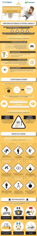 Riesgos laborales: cómo evitarlos Vía: @contunegocio_es #infografia #infographic #rrhh