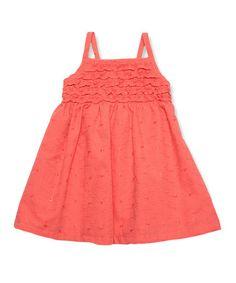 Look at this #zulilyfind! Orange A-Line Dress - Infant, Toddler & Girls by Penelope Mack #zulilyfinds