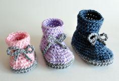 easy crocheted bootie slippers | Crochet Spot » Blog Archive » Crochet Pattern: Classic Baby Booties ...