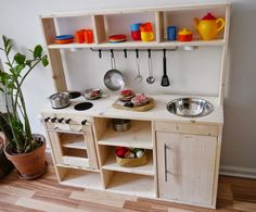 Ikea hack play kitchen Cocinitas DIY Pinterest