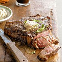 One porterhouse usually serves 2 to 3 people. If serving more than that, add another porterhouse and use the same amount of marinade as you would for one steak.