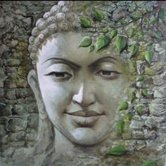 buddhablessnamasteuniverse: All things appear and disappear because of the concurrence of causes and conditions. Nothing ever exists entirely alone; everything is in relation to everything else. ― Buddha Buddha Painting By Indian Artist Sanjay Soni Buddha Zen, Buddha Buddhism, Buddhist Art, Buddha Face, Buddha Garden, Tibetan Buddhism, Ganesha, Budha Painting, Zen Meditation