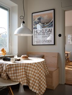 What Should I Buy if I know I am going to renovate? - Mad About The House Interior Design Jobs, Interior Design Inspiration, Wooden Vanity Unit, Dining Corner, Dining Room, Gingham Tablecloth, Blue Wall Colors, Mad About The House, Monday Inspiration